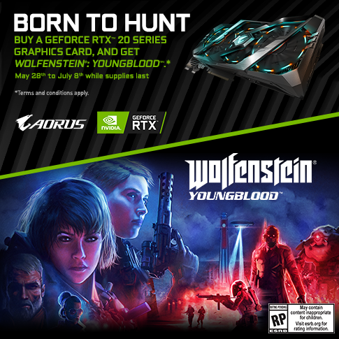 【APAC】Buy a GeForce RTX 20 Series Graphics Card, and get Wolfenstein®: Youngblood™
