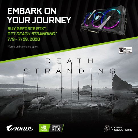 【APAC】PURCHASE ANY GIGABYTE AORUS RTX 20/SUPER SERIES GRAPHICS CARD AND GET DEATH STRANDING