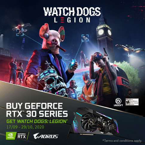 [APAC] BUY GIGABYTE AORUS GEFORCE RTX 30 SERIES AND GET WATCH DOGS: LEGION GAME
